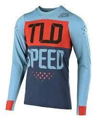 Troy Lee Skyline Speedshop Long Sleeve Race Jersey - Stone Blue/Clay