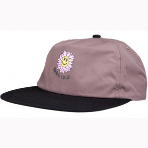 Santa Cruz Baked Flower Cap - Steel/Black
