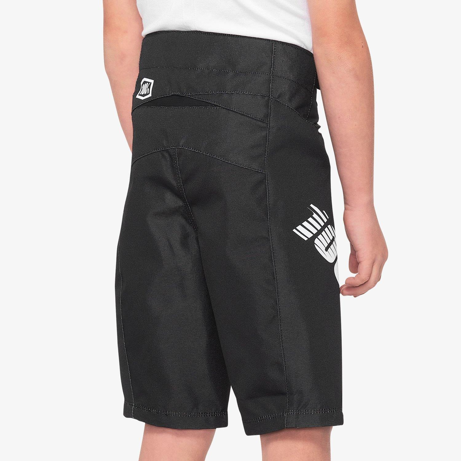 100% R-Core Race Youth Shorts - Black