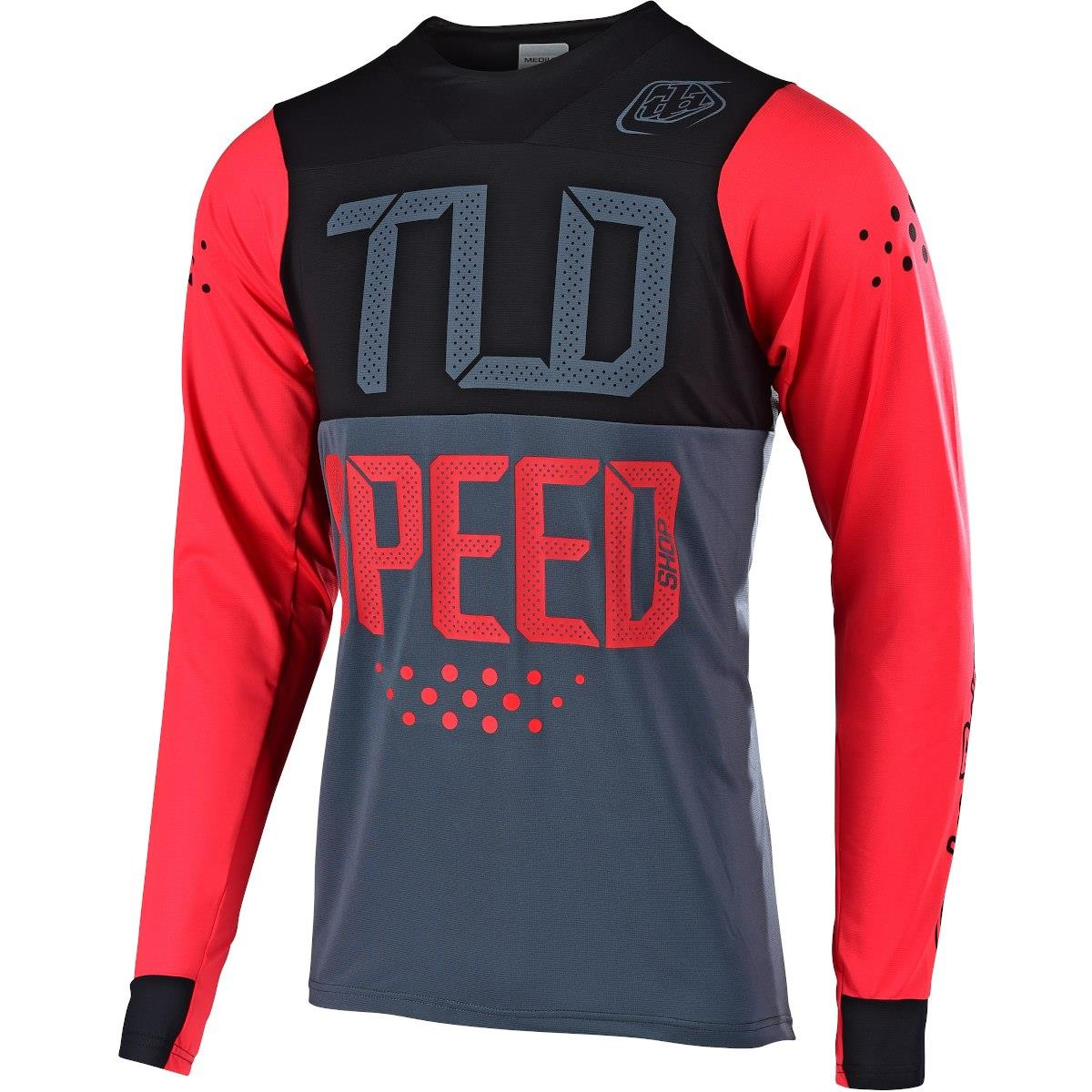 Troy Lee Skyline Speedshop Long Sleeve Race Jersey - Red/Black