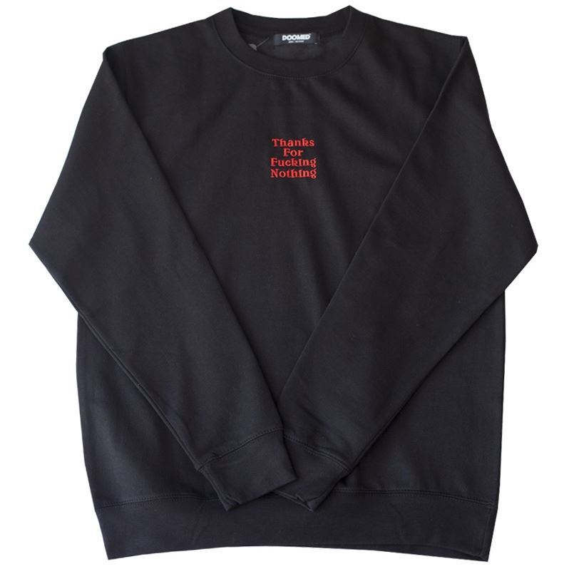 Doomed Thanks For Nothing Sweat - Black | Jerseys