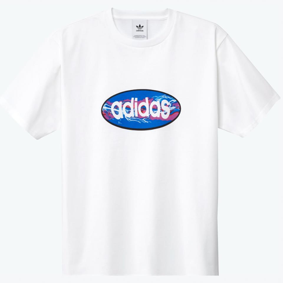Adidas Oval T-Shirt - White