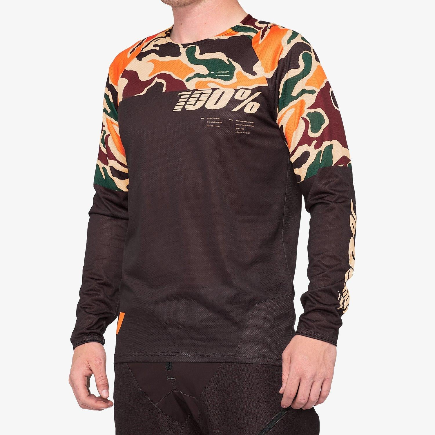 100% R-Core Race Jersey - Warm Black/Camo