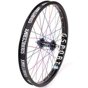 Profile Elite Front Female Wheel - Titanium Upgrade - Black/Rainbow