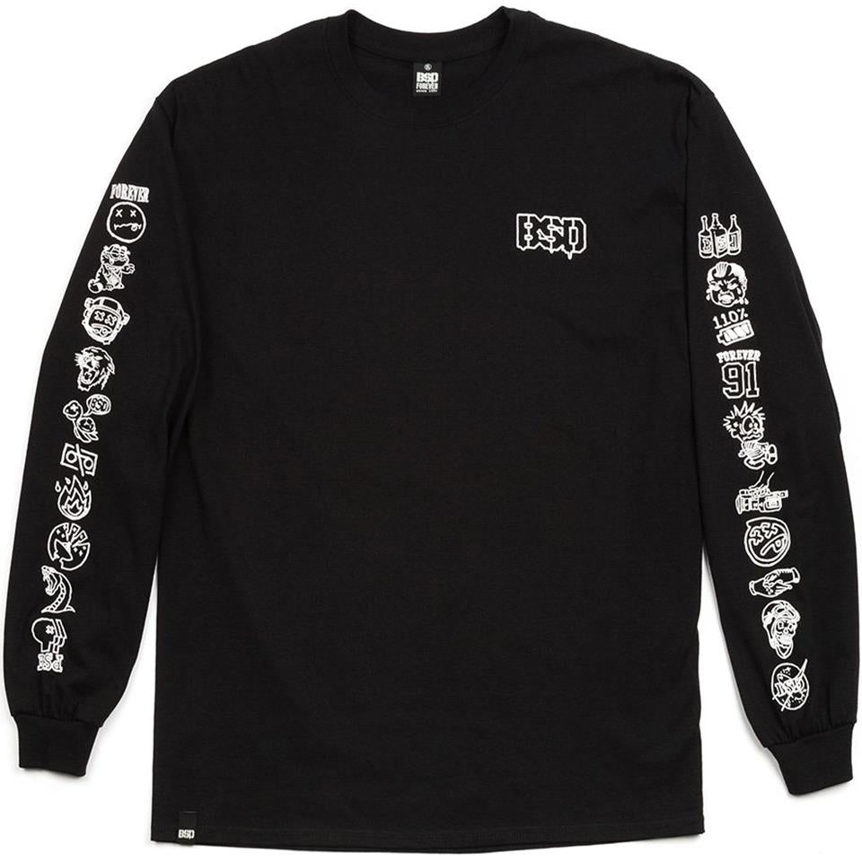 BSD Icon Long Sleeve T-Shirt - Black