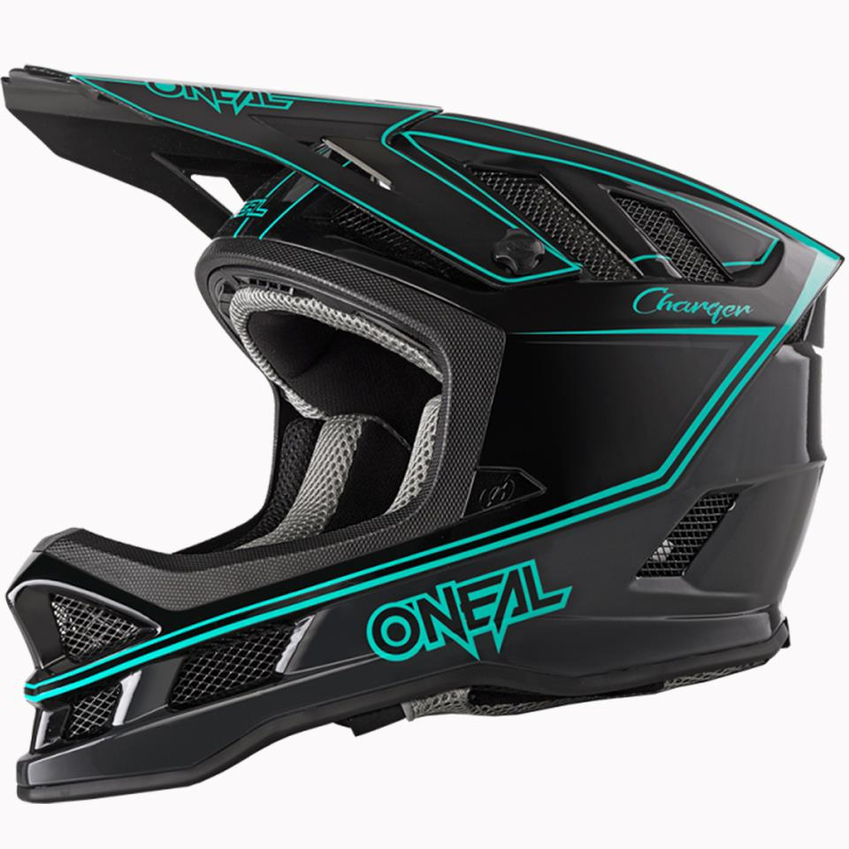 O'Neal Blade Charger Race Helmet - Black/Teal