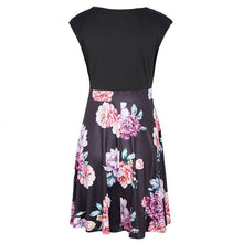 Load image into Gallery viewer, Maternity V-Neck Sleeveless Printing Knee-Length Dress