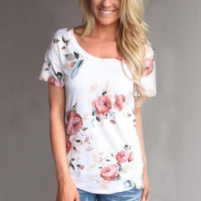 Load image into Gallery viewer, Maternity Round Neckline Printed Short T-Shirt