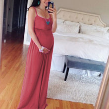 Load image into Gallery viewer, Maternity Solid Color Cami Maxi Dress