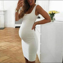 Load image into Gallery viewer, Maternity Dress Plain Sleeveless Dress