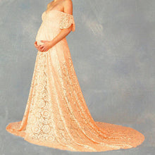 Load image into Gallery viewer, Pregnant Women Trailing Short-Sleeved Dress