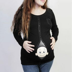 Maternity Baby Pattern T-Shirt
