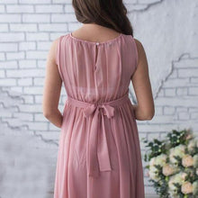 Load image into Gallery viewer, Maternity Sleeveless Chiffon Full Length Dress