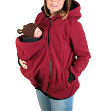 Load image into Gallery viewer, Maternity Multifunctional Kangaroo Hoodie