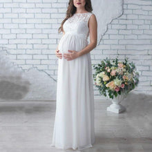 Load image into Gallery viewer, Maternity Lace Patchwork Full Length Dress