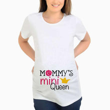 Load image into Gallery viewer, Maternity Slogon Print Round Neck Top