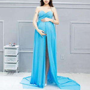 Maternity Graceful Strapless Maxi Dress
