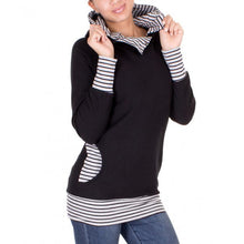 Load image into Gallery viewer, Maternity Stripe Hoodie