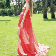 Load image into Gallery viewer, Maternity Off Shoulder Maxi Dress