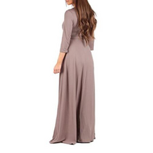 Load image into Gallery viewer, Maternity Full Length Dress With Adjustable Belt