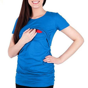 Maternity Multifunctional Nursing & Feeding T-Shirt