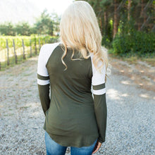Load image into Gallery viewer, Maternity Letter Pattern Raglan Sleeve Tee