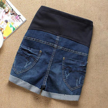 Load image into Gallery viewer, Maternity Abdomen Supportive Denim Shorts