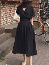 Load image into Gallery viewer, Surplice  Plain Maxi Dress