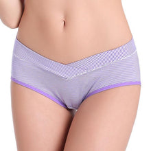 Load image into Gallery viewer, Maternity Stripe Abdomen Supportive Underwear