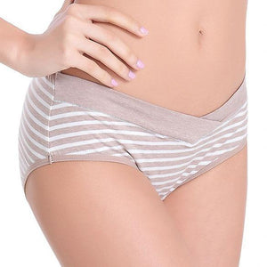 Maternity Stripe Abdomen Supportive Underwear