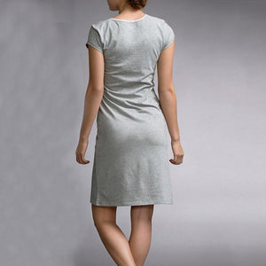 Maternity V-Neck Nursing Short Dress