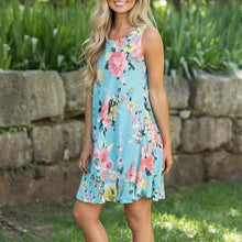 Load image into Gallery viewer, Maternity Floral Print Sleeveless Short Dress