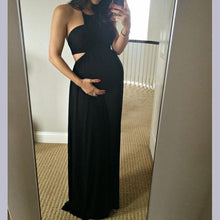 Load image into Gallery viewer, Maternity Off Shoulder Full Length Dress