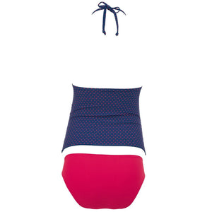 Maternity Color Block Tankini