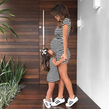 Load image into Gallery viewer, Mom Girl Stripes Matching Dress