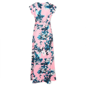 Maternity Floral Print Surplice Wrap Maxi Dress