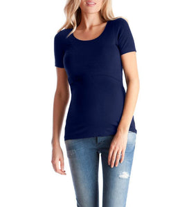 Maternity Round Neck Top