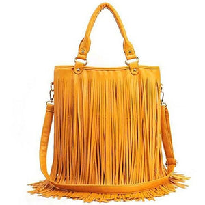 PU Tassel Shoulder Bag