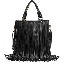 Load image into Gallery viewer, PU Tassel Shoulder Bag