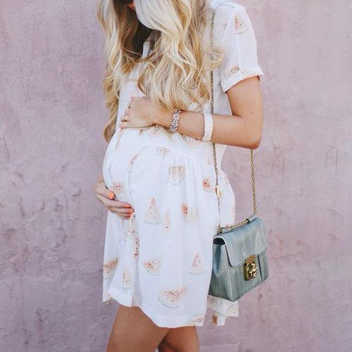 Maternity Watermelon Shirt Dress