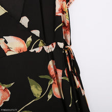Load image into Gallery viewer, Fashion Deep V Collar Floral Printed Maxi Dress