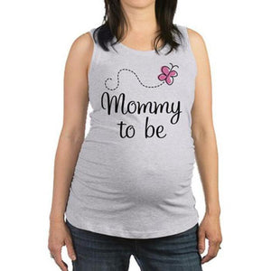Maternity Letters & Flower Pattern Tanks Top