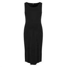 Load image into Gallery viewer, Black Sleeveless Maternity Knot Dress