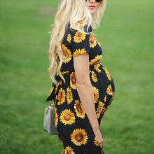 Load image into Gallery viewer, Maternity Sunflower Dress