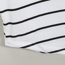 Load image into Gallery viewer, White Striped Ruffle Maternity Tank Top