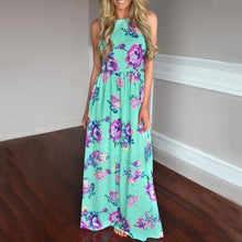 Load image into Gallery viewer, Maternity Floral Print Floor-Length Dress