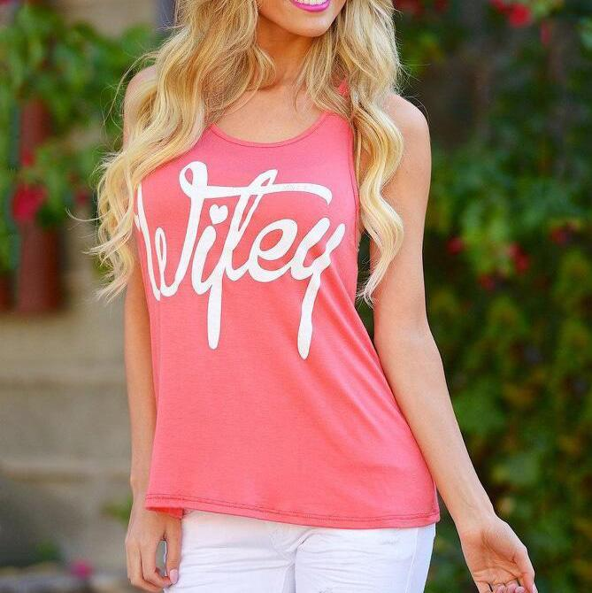 Maternity Letters Print Tank Top