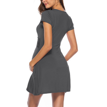 Load image into Gallery viewer, V-Neck Short Sleeve Maternity Dress