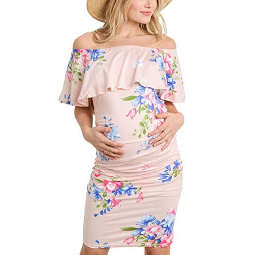 Maternity Floral Print Bodycon Dress