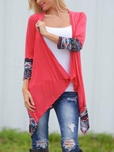 Load image into Gallery viewer, Collarless  Plain  Long Sleeve Cardigans